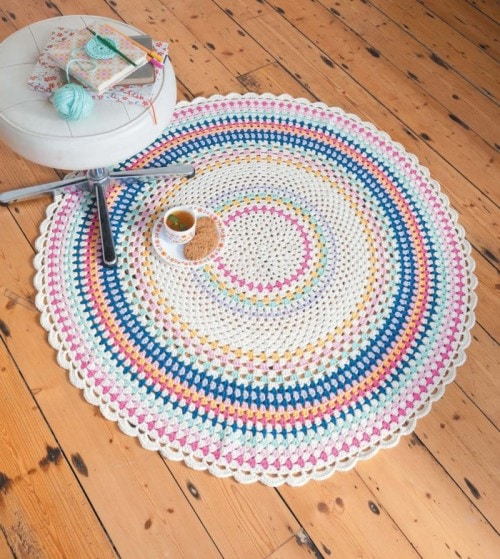 Scarborough Rock Floor Throw | Crochet Home | Book Review | Oombawka Design