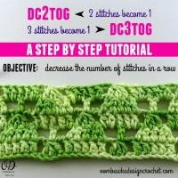 Dc2tog and dc3tog | Crochet Tutorial