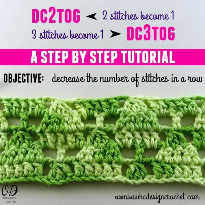 Dc2tog and dc3tog Crochet Tutorial ? Oombawka Design Crochet