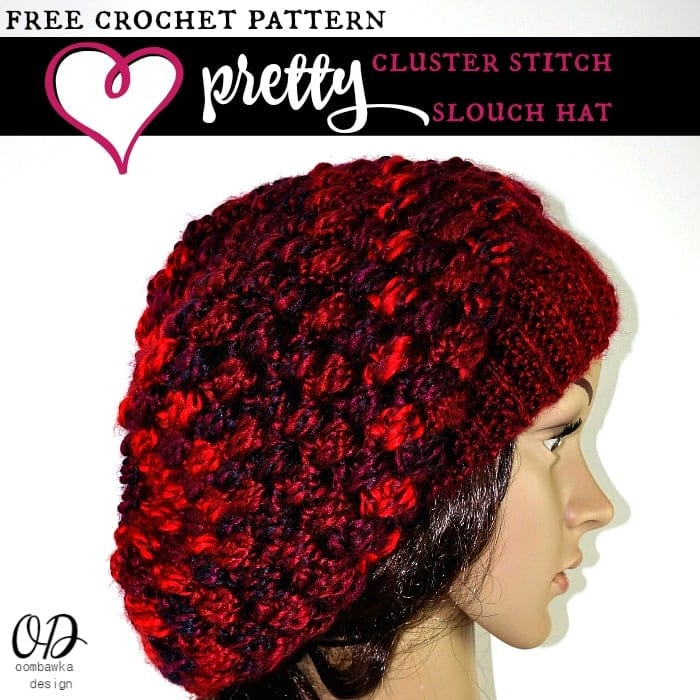Free Pattern Slouch Hat Pretty Cluster Stitch