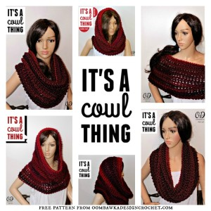 Its A Cowl Thing. Free Pattern. Oombawka Design Crochet.