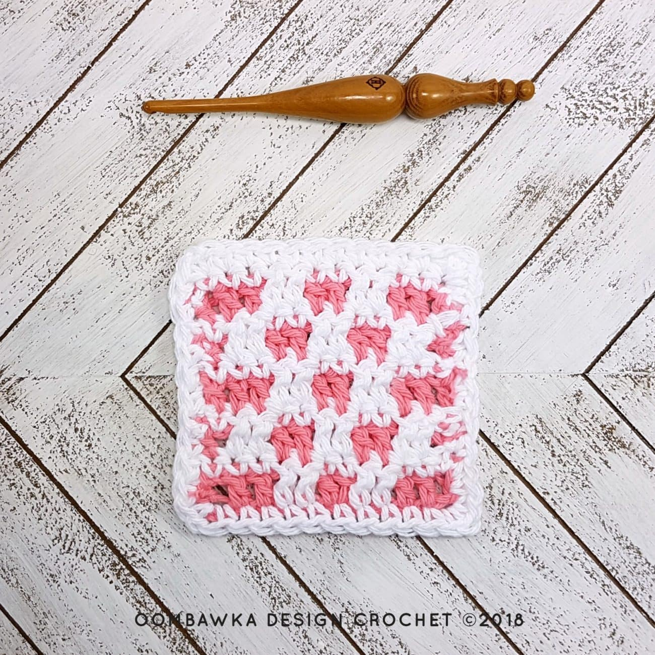 Reversible Stitch Pattern Dishcloth Oombawka Design