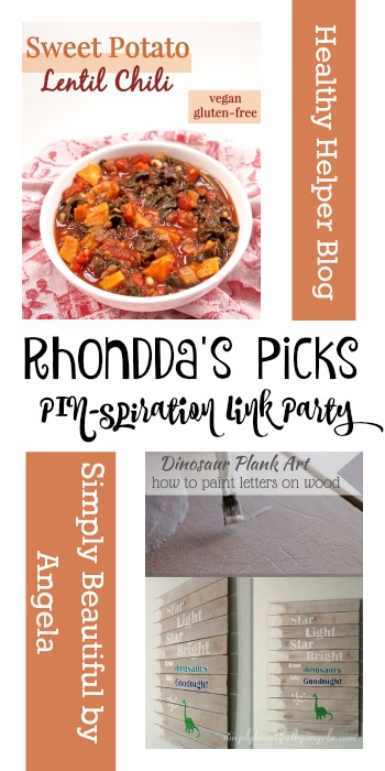 Tuesday PIN Spiration Link Party | Rhonddas Picks Healthy Helper Blog & Simply Beautiful by Angela