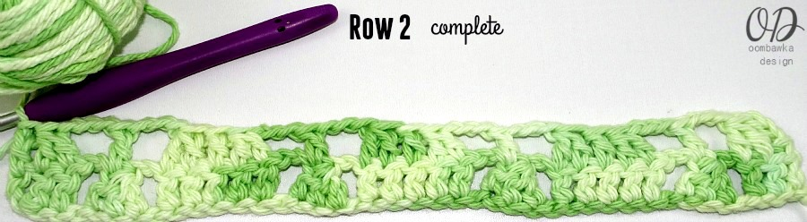 Row-2-Complete Little Christmas Trees Stitch Pattern - Free Tutorial and Free Pattern
