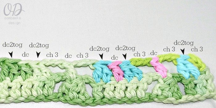 Row-2-Stitch-Pattern Little Christmas Trees Stitch Pattern - Free Tutorial and Free Pattern