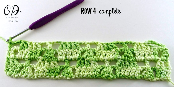 Row-4-Complete Little Christmas Trees Stitch Pattern - Free Tutorial and Free Pattern