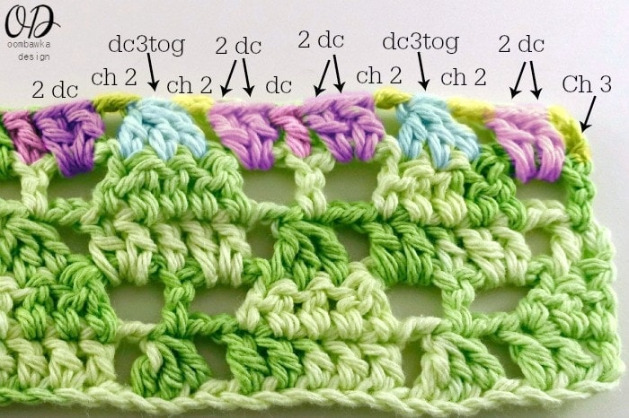 Row-5-Stitch-Repeat Little Christmas Trees Stitch Pattern - Free Tutorial and Free Pattern