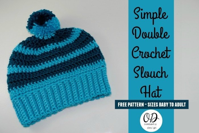Cover Simple double crochet slouch hat free pattern