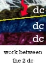 Work between 2 dc on edge | Fitted Neck Warmer Free Pattern