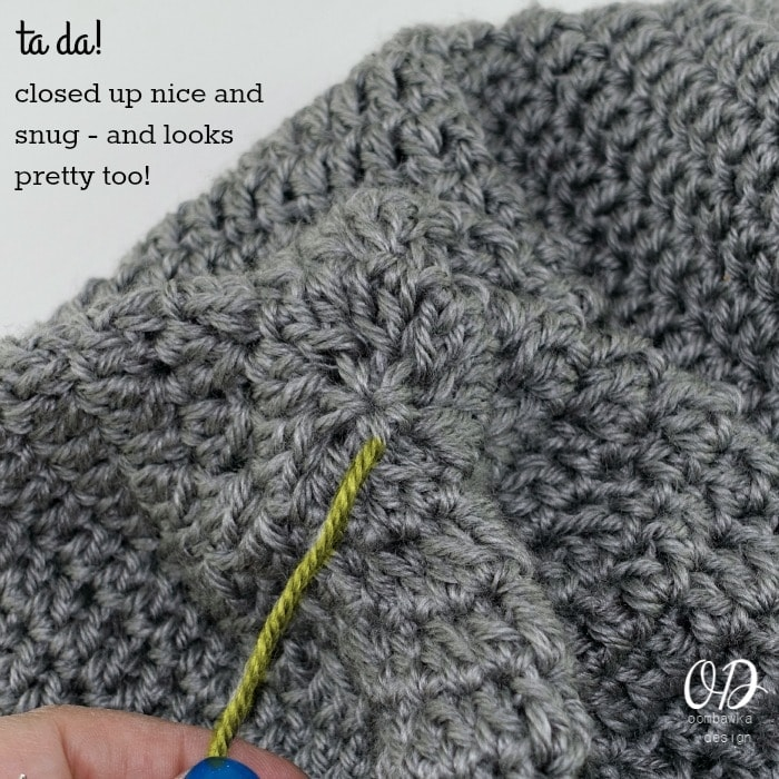 Step 4 Simple Closing Method for Hats and Mittens