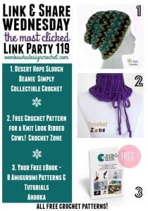 Link Party 120 – All Free Crochet Patterns this week at Link and Share Wednesday
