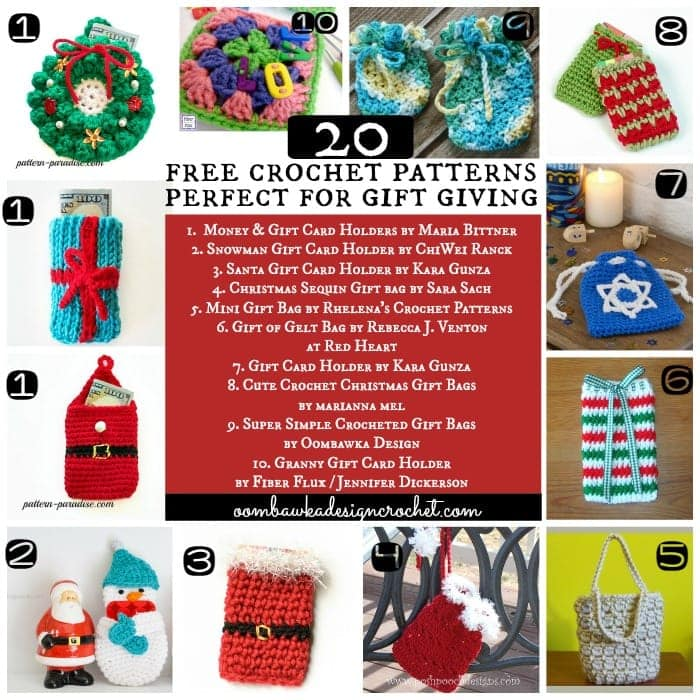 FCPF 20 Free Patterns for Gift Giving that are Crocheted
