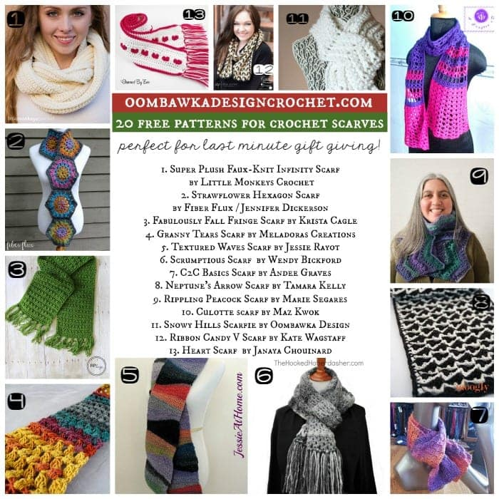 20 Free Patterns For Crochet Scarves