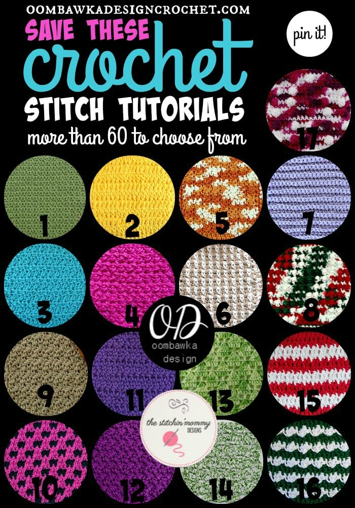 Crochet Stitch Tutorials You Need to Save for Later more than 60