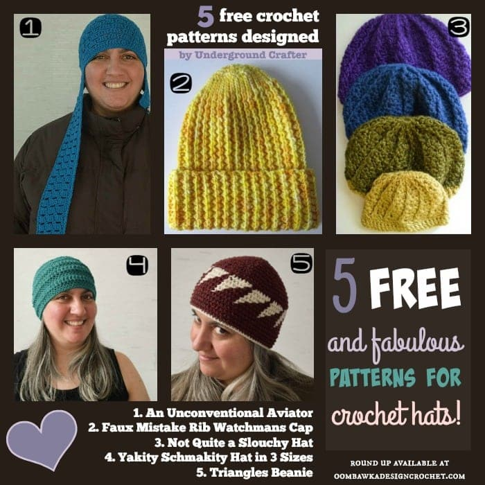 5 Free and Fabulous Patterns for Crochet Hats