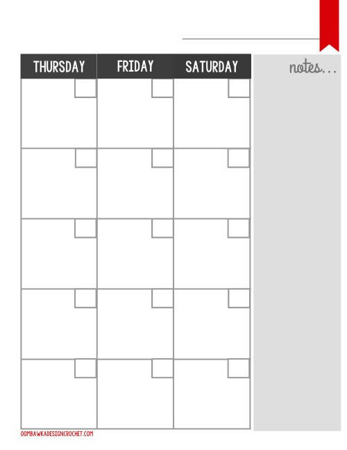 Blogger Monthly Planner Printable Free Oombawka Design