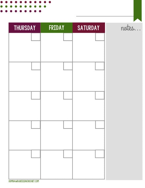 Blogger Planner Printable Monthly Oombawka Design P2