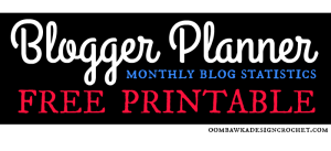 Monthly Blog Statistics Blogger Planner Free Printable