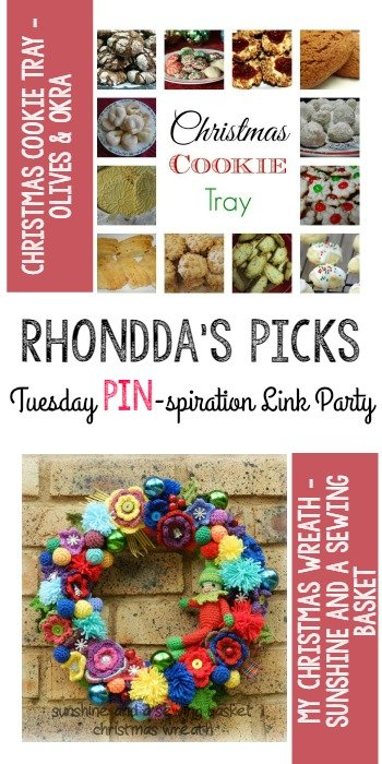 Pin-spiration Link Party Rhonddas Picks Olive and Okra Sunshine And A Sewing Basket