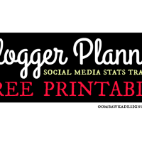 Free Printable – Social Media Stats – Blogger Planner
