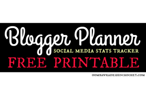 Free Printable Social Media Stats Tracker Blogger Planner
