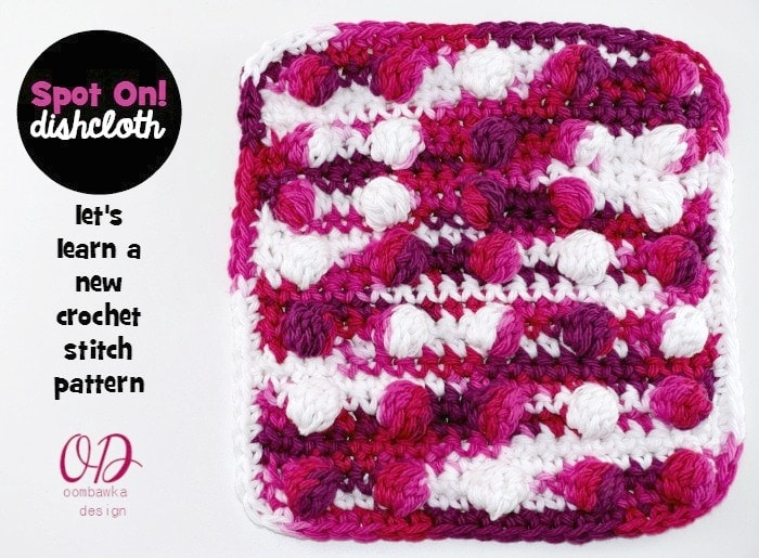 Spot On! Crochet Dishcloth Tutorial and Free Pattern 2