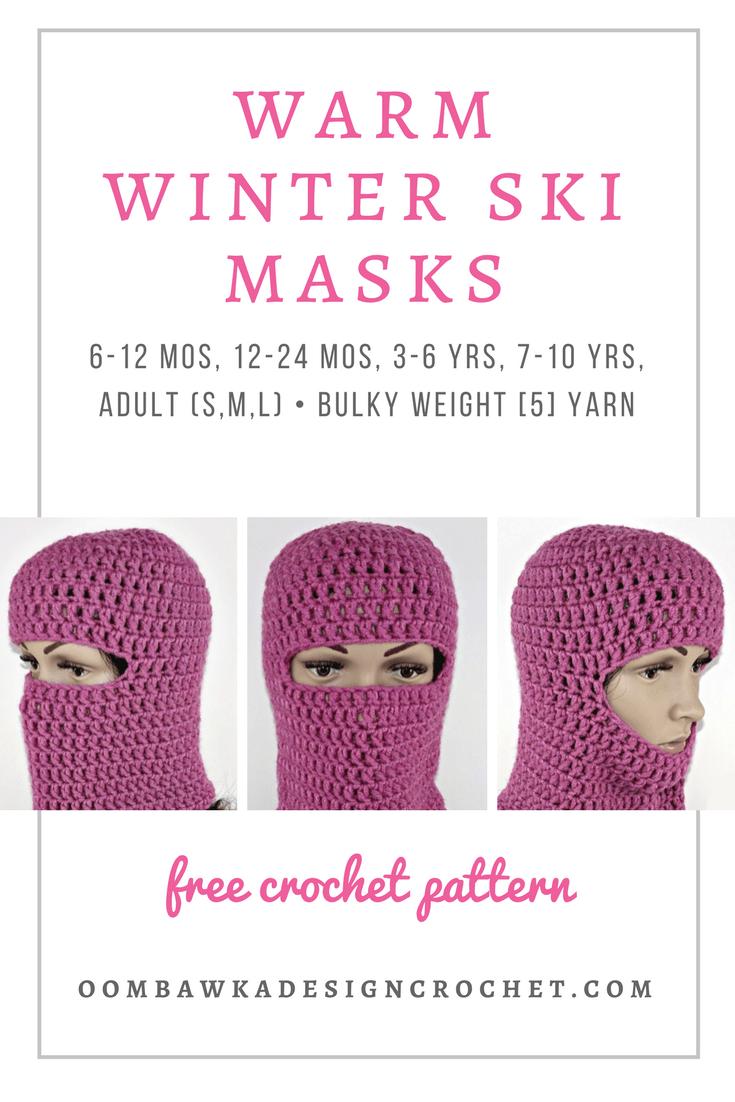 Warm Winter Ski Masks Free Pattern Oombawka Design Crochet