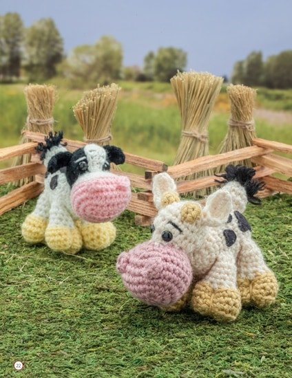 Cow and Calf | Chick Crochet a Farm Book Review