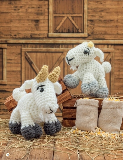 Goat and Kid | Chick Crochet a Farm Book Review