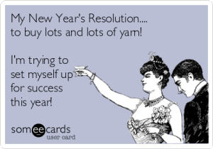 Crocheter New Years Resolution