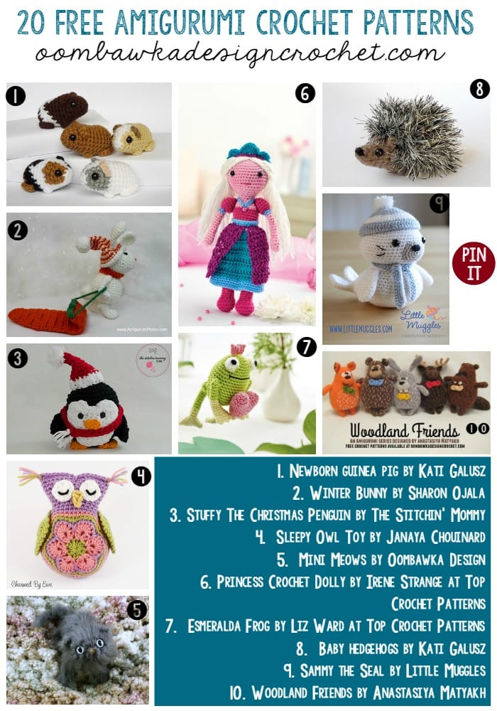 All Free Amigurumi Patterns : 20 Free Patterns for Amigurumi Oombawka Design Crochet