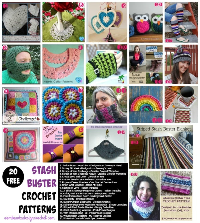 20 Free Patterns for Stash Buster Projects