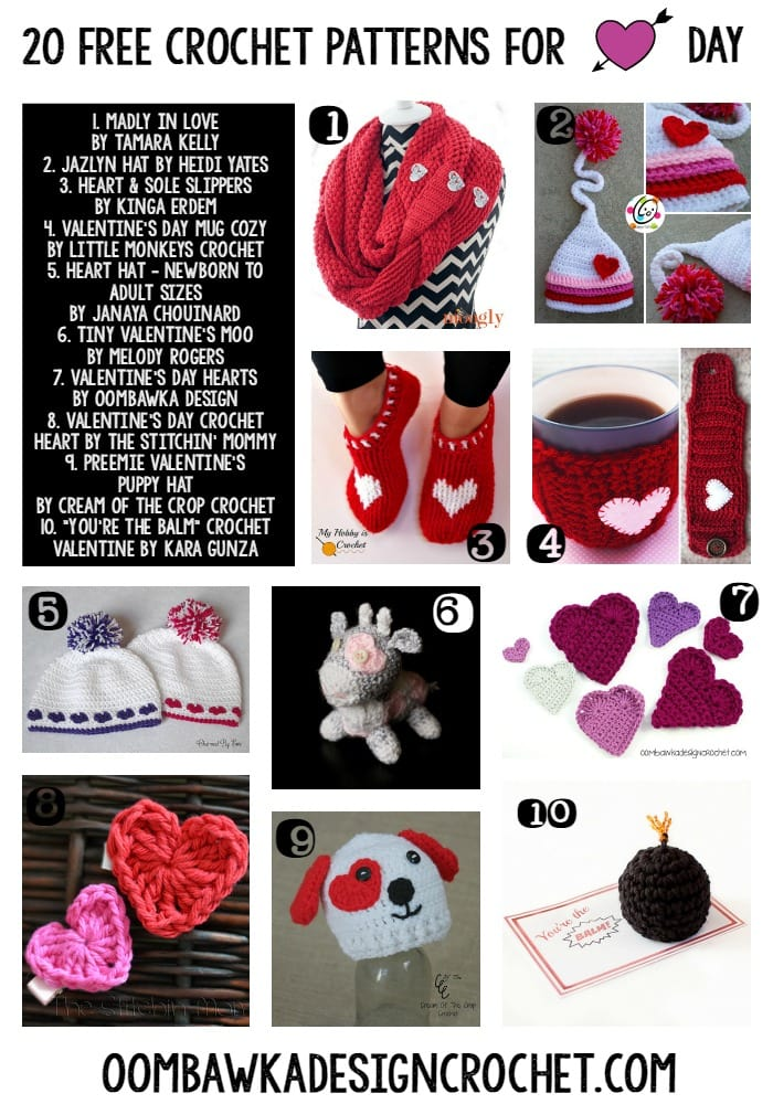 ... Free Crochet Patterns for Valentines Day ? Oombawka Design Crochet