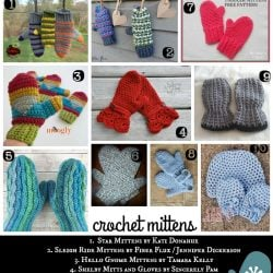 20 Free Patterns for Crochet Mittens