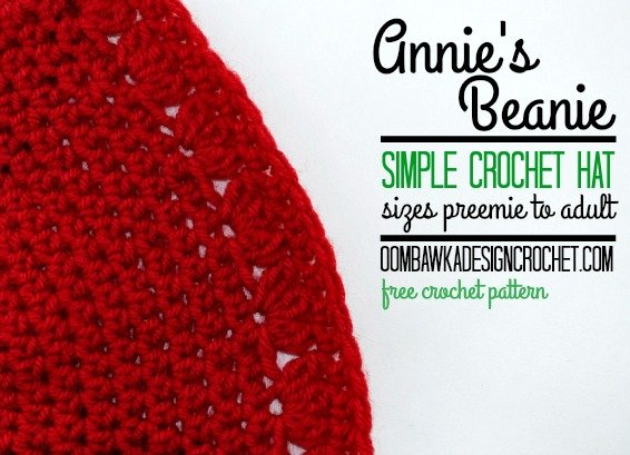 Annies simple crochet hat free pattern sizes preemie to adult