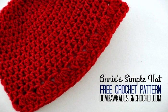 Annies Simple Hat Preemie To Adult Free Pattern Oombawka