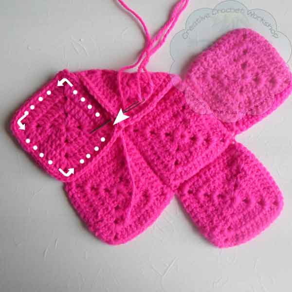 7 Granny Square Birdie Slippers Guest Post Joanita Theron Creative Crochet Workshop