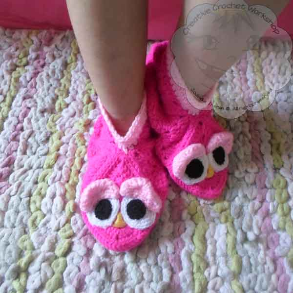 1 Granny Square Birdie Slippers Guest Post Joanita Theron Creative Crochet Workshop