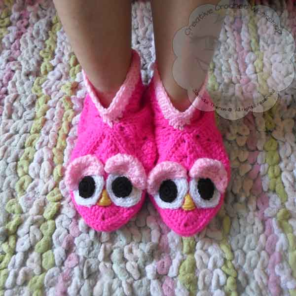 16 Granny Square Birdie Slippers Guest Post Joanita Theron Creative Crochet Workshop
