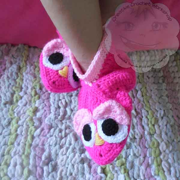 2 Granny Square Birdie Slippers Guest Post Joanita Theron Creative Crochet Workshop