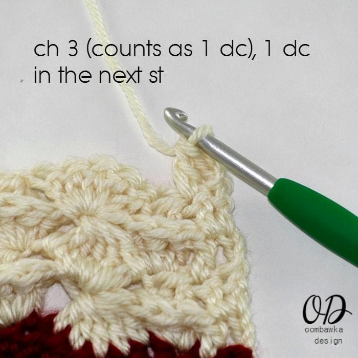 Ch 3 1 dc in next R2 Part 2 Wonder Crochet Blanket CAL