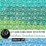 V-Stitch Dishcloth Pattern And Tutorial LLANCS