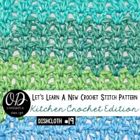 V-Stitch Tutorial and Free Pattern for a Simple Dishcloth