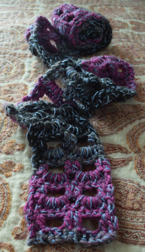 2 Handmade Especially For You Free Pattern for Glittery Accent Scarf Guest Post