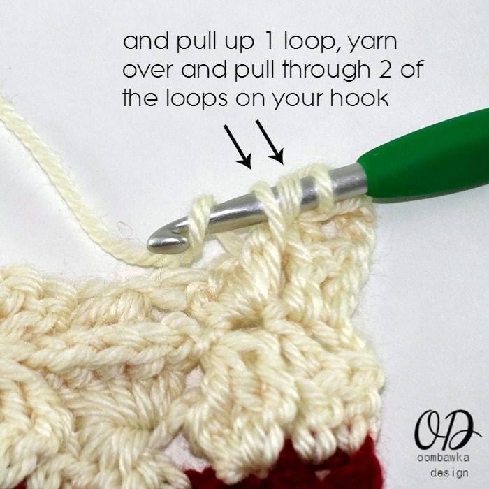 Step 3 Row 2 Part 2 Wonder Crochet Blanket CAL
