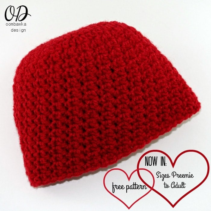 My Little Love Crochet Hat Pattern Sizes Preemie To Adult