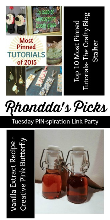Rhonddas Picks Tuesday PINspiration Link Party & Yummy treats