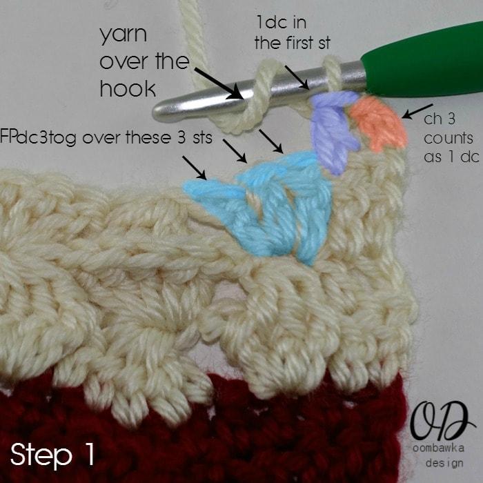 Step 1 Row 2 Part 2 Wonder Crochet Blanket CAL