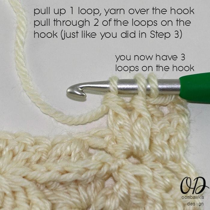 Step 7 R2 Part 2 of Wonder Crochet Blanket CAL