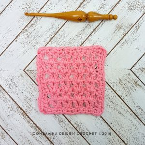 Crochet V-Stitch Dishcloth – Free Pattern and Tutorial